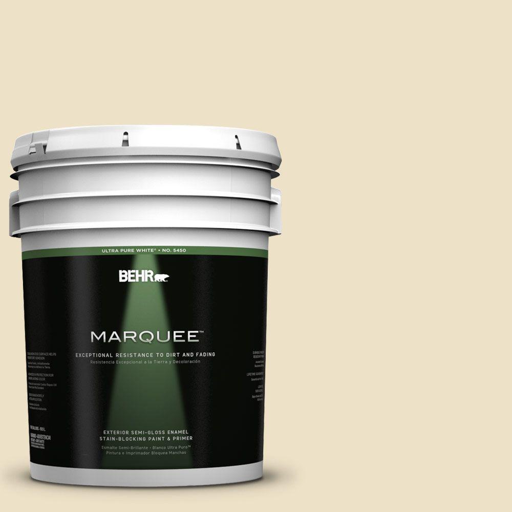 5-gal. #370E-2 Cream Silk Semi-Gloss Enamel Exterior Paint