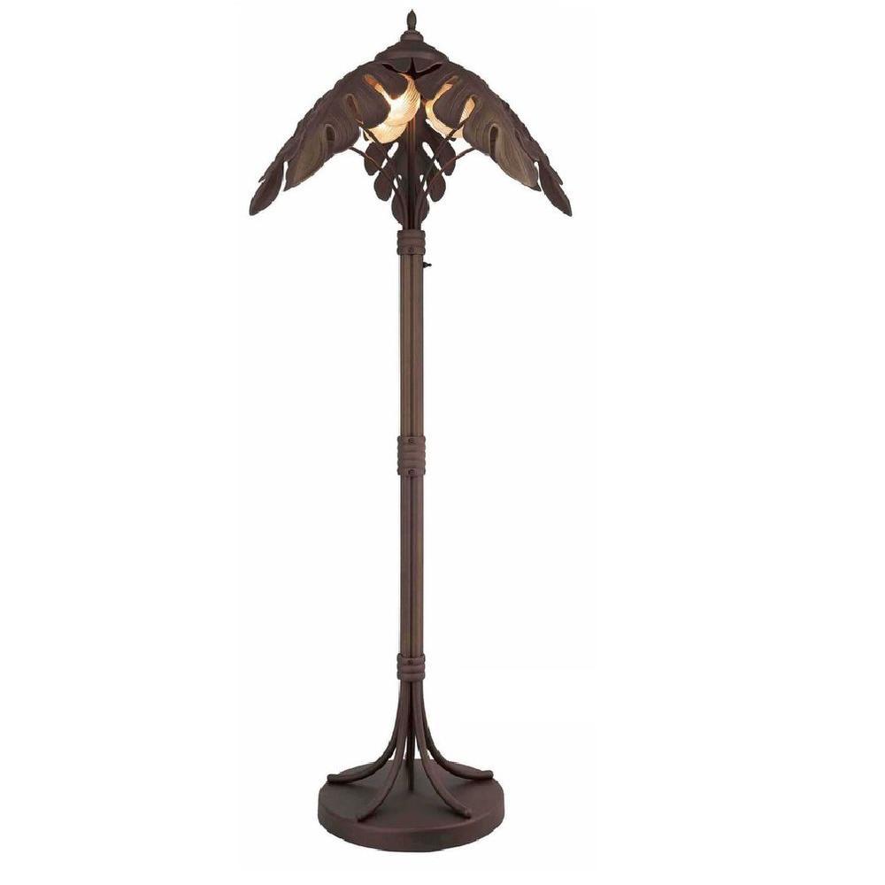 Bel Air Lighting 3-Light Palm Tree Outdoor Post Light