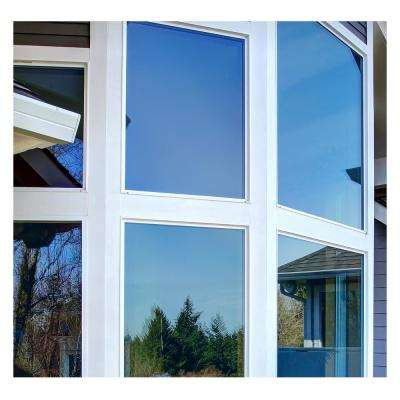 48 in. x 50 ft. PRBL Premium Color High Heat Control and Daytime Privacy Blue Window Film