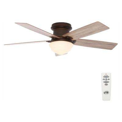 Maxwell 52 in. LED Indoor Mediterranean Bronze Ceiling Fan with Light Kit and Remote Control