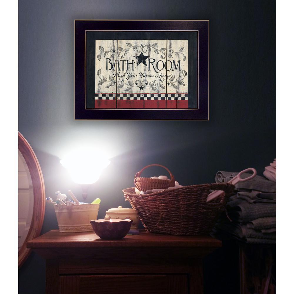 """""""Bathroom"""" by Linda Spivey Framed Wall Art"""