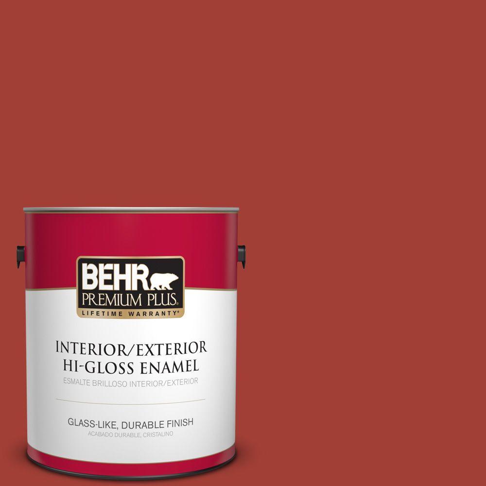 1 gal. #HDC-SM16-12 Tomato Slices Hi-Gloss Enamel Interior/Exterior Paint