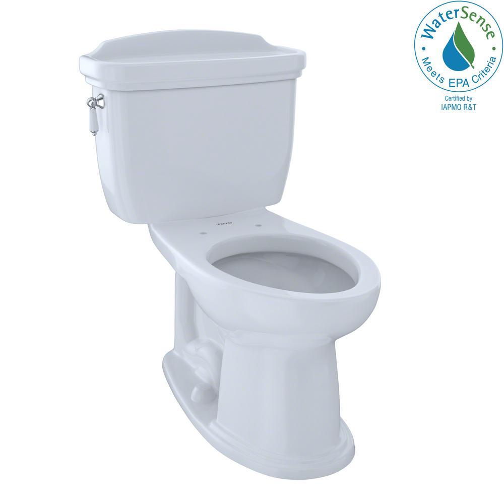 Eco Dartmouth 2-Piece 1.28 GPF Single Flush Elongated Toilet in Cotton White