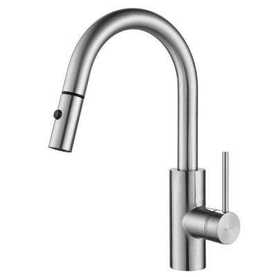 Oletto Single Handle Pull Down Kitchen Faucet in Chrome Finish