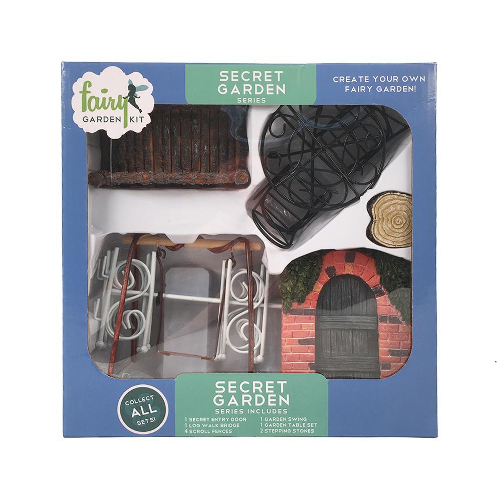 Secret Garden Polyresin Fairy Garden Kit (12-Piece)