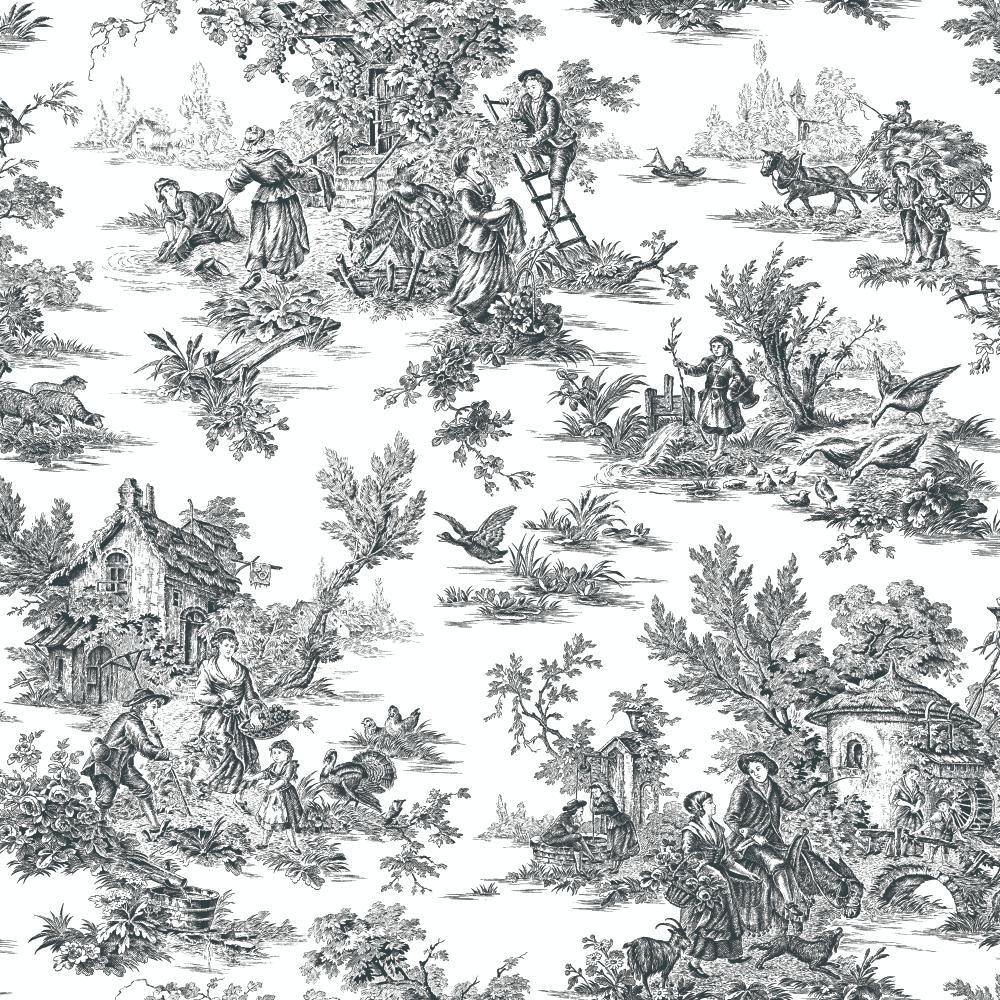 Champagne Toile Wallpaper