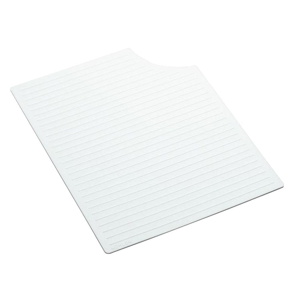 KOHLER Silicone Mat in White for Carrizo Kitchen Sinks-DISCONTINUED