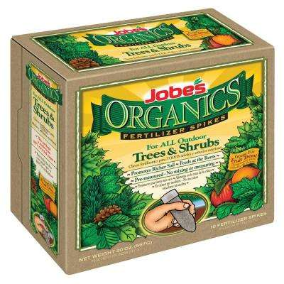 4 oz. Organic Tree and Shrub Fertilizer Spikes, OMRI Listed (10-Pack)