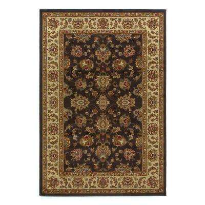Imperial Tradition Mocha/Ivory 2 ft. 7 in. x 4 ft. 1 in. Area Rug