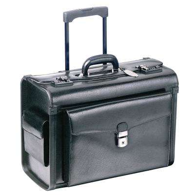 19 in. Black Deluxe Wheeled Catalog Case