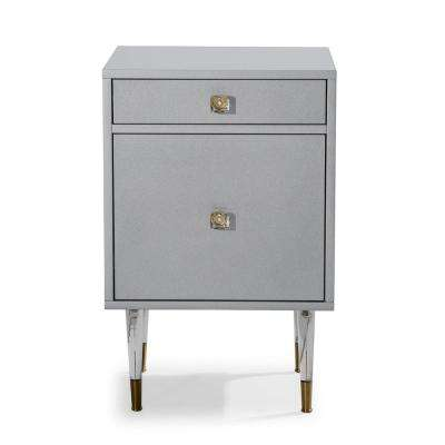 Charm Gray Transparent Side Table