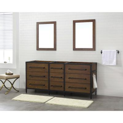 Grandburgh 72 in. W x 22 in. D Vanity Cabinet Only in Coffee Swirl