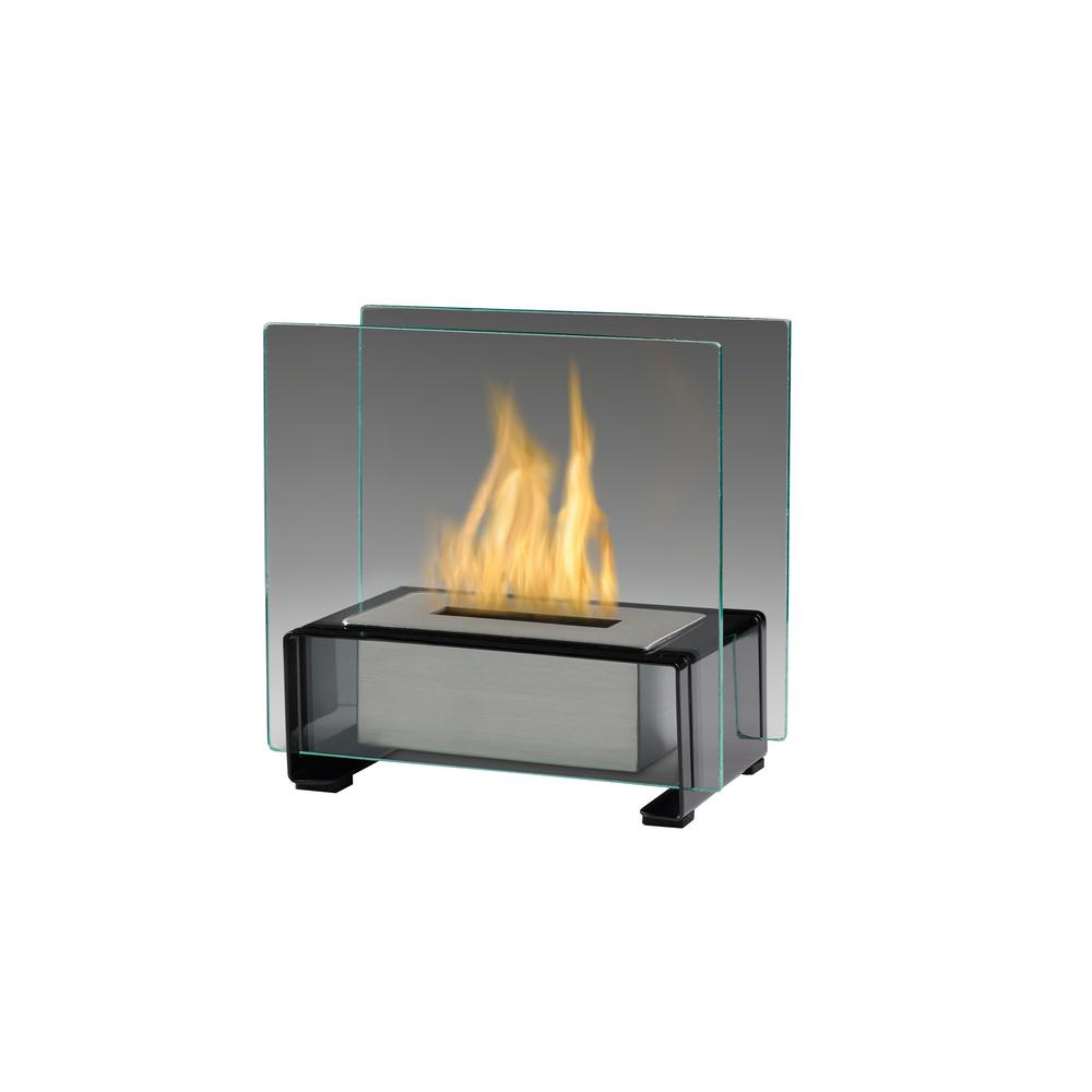 Paris 7 in. Tabletop Fire Pot in Gloss Black