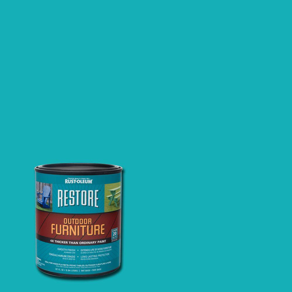 Rust Oleum Restore 1 Qt Seaside Outdoor Furniture Exterior Solid Stain 291580 The Home Depot