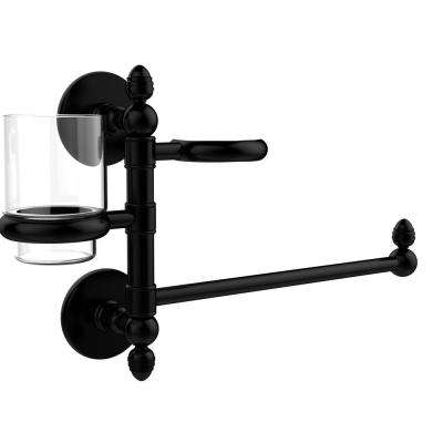 Prestige Skyline Collection Hair Dryer Holder and Organizer in Matte Black