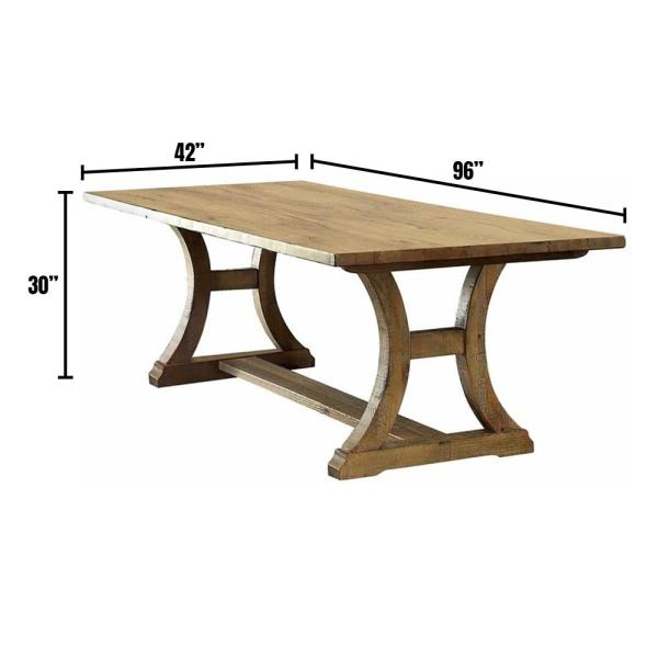 Gianna 96 in. Rustic Pine Dining Table