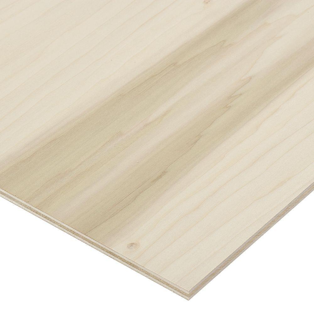 1/2 in. x 2 ft. x 4 ft. PureBond Poplar Plywood Project Panel (Free Custom Cut Available)