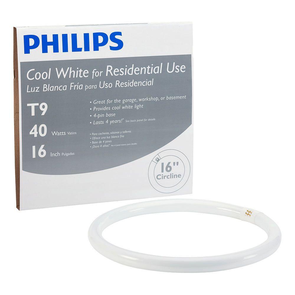 Philips 16 in. T9 40-Watt Cool White Plus (4100K) Circline Linear Fluorescent Light Bulb (12-Pack)