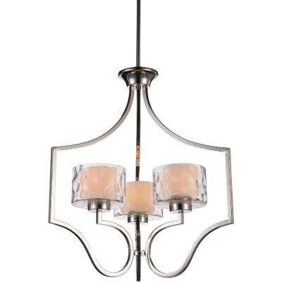 Lorri 3-Light Chrome Chandelier with Clear shade