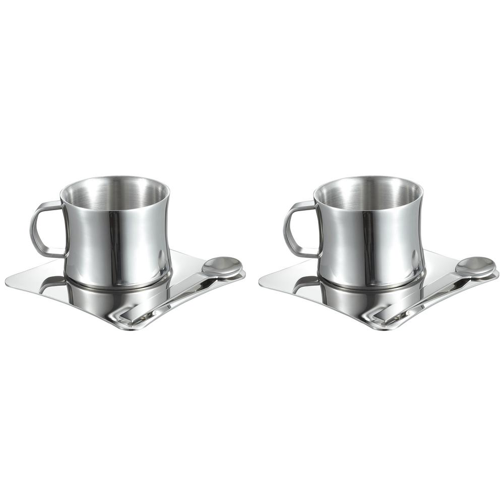 Visol 4 oz. Stainless Steel Double Walled Coffee Cup with...