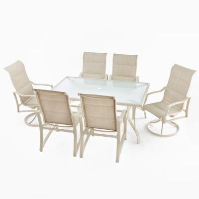Statesville Shell 7-Piece Aluminum Outdoor Dining Set