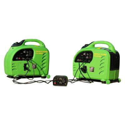 Energy Storm 2,200-Watt Gasoline Powered Remote Start Inverter Generator with Connection System