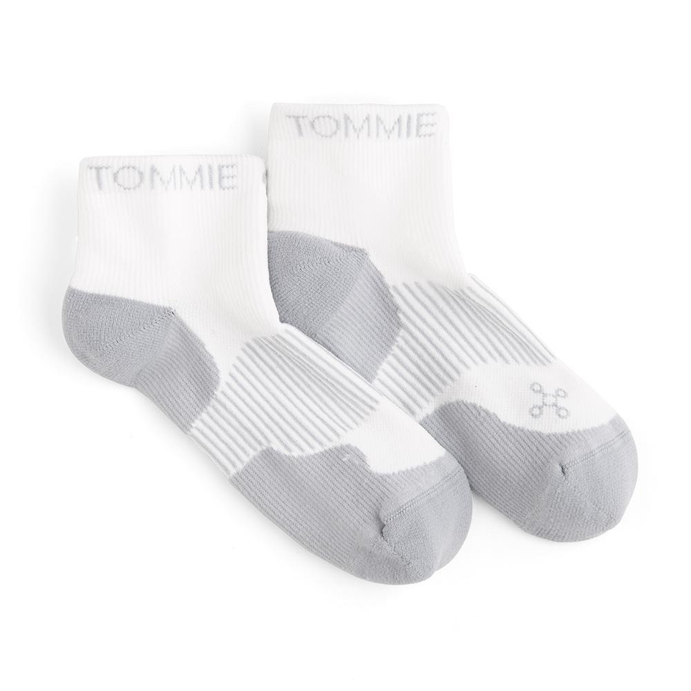 119c218aaf Tommie Copper 10-12.5 White Women's Athletic Ankle Sock-1703WR070105 ...