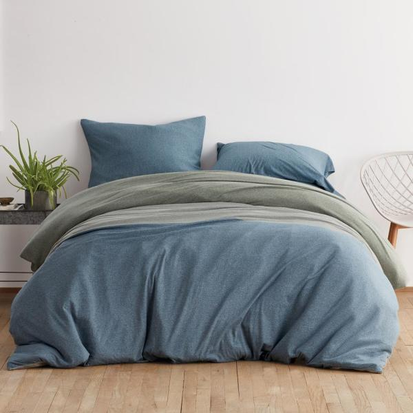 Logan Jersey Cotton Blend Twin Duvet Cover in Teal Multi