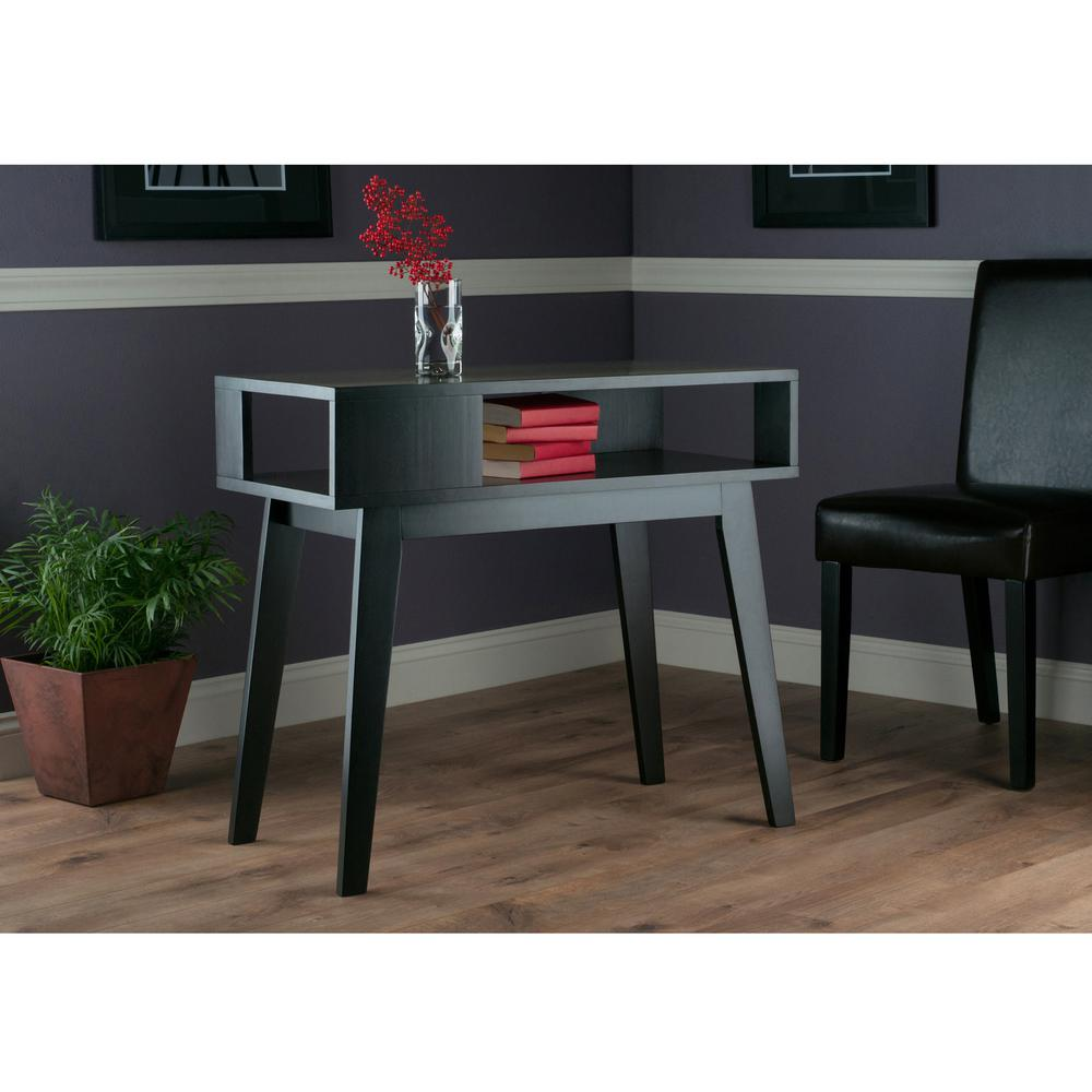 Awesome Winsome Wood Thompson Espresso Console Table