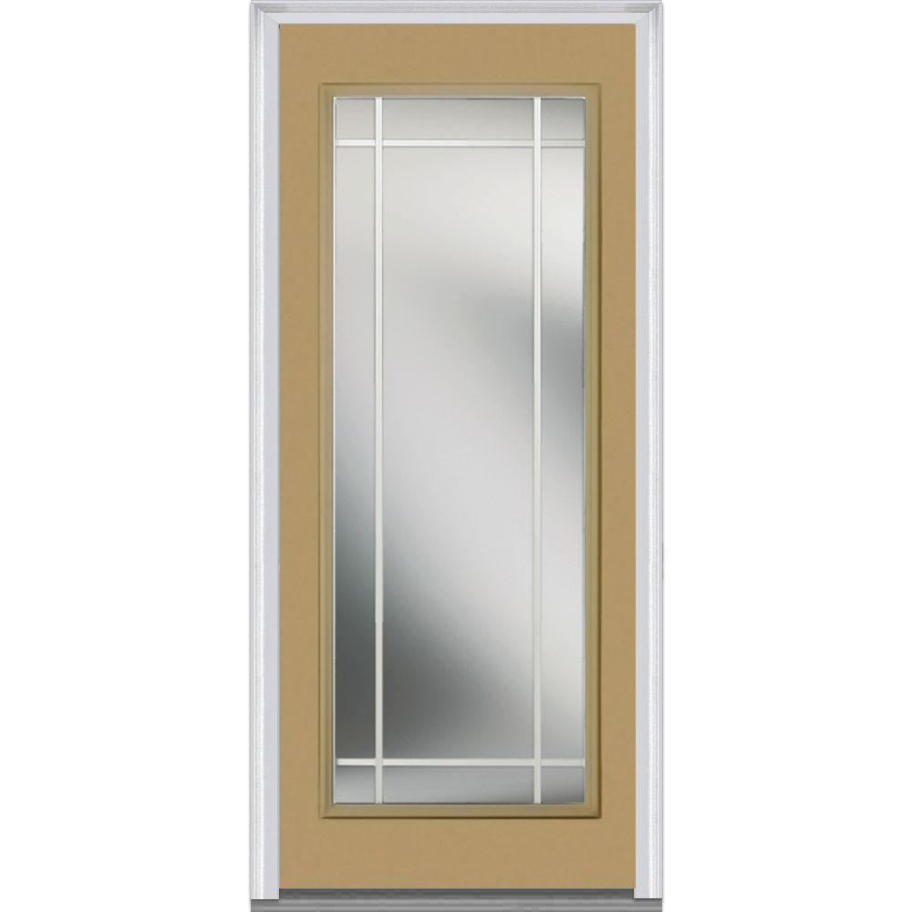 Mmi door 30 in x 80 in prairie internal muntins left hand full lite classic painted steel - Painting a steel exterior door model ...
