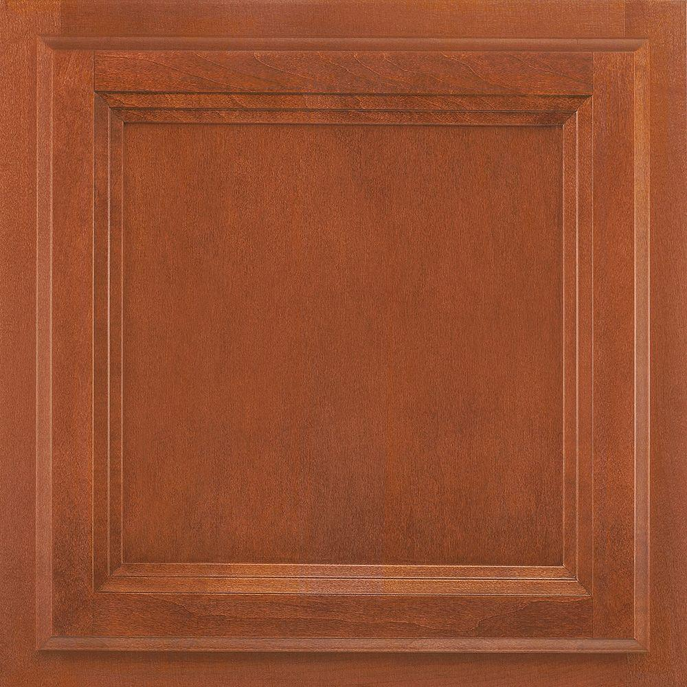 American Woodmark 13x12-7/8 in. Cabinet Door Sample in Ashland Maple Cognac