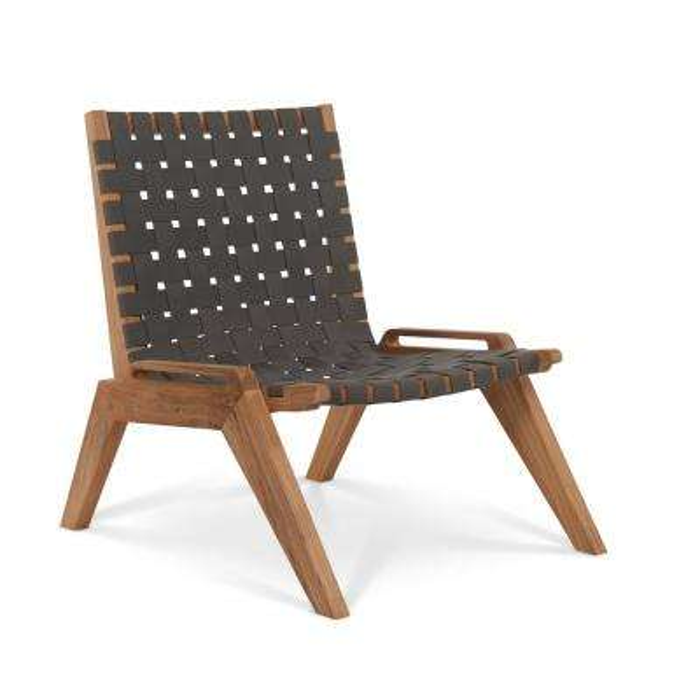 Draper Woven Teak Outdoor Lounge Chair