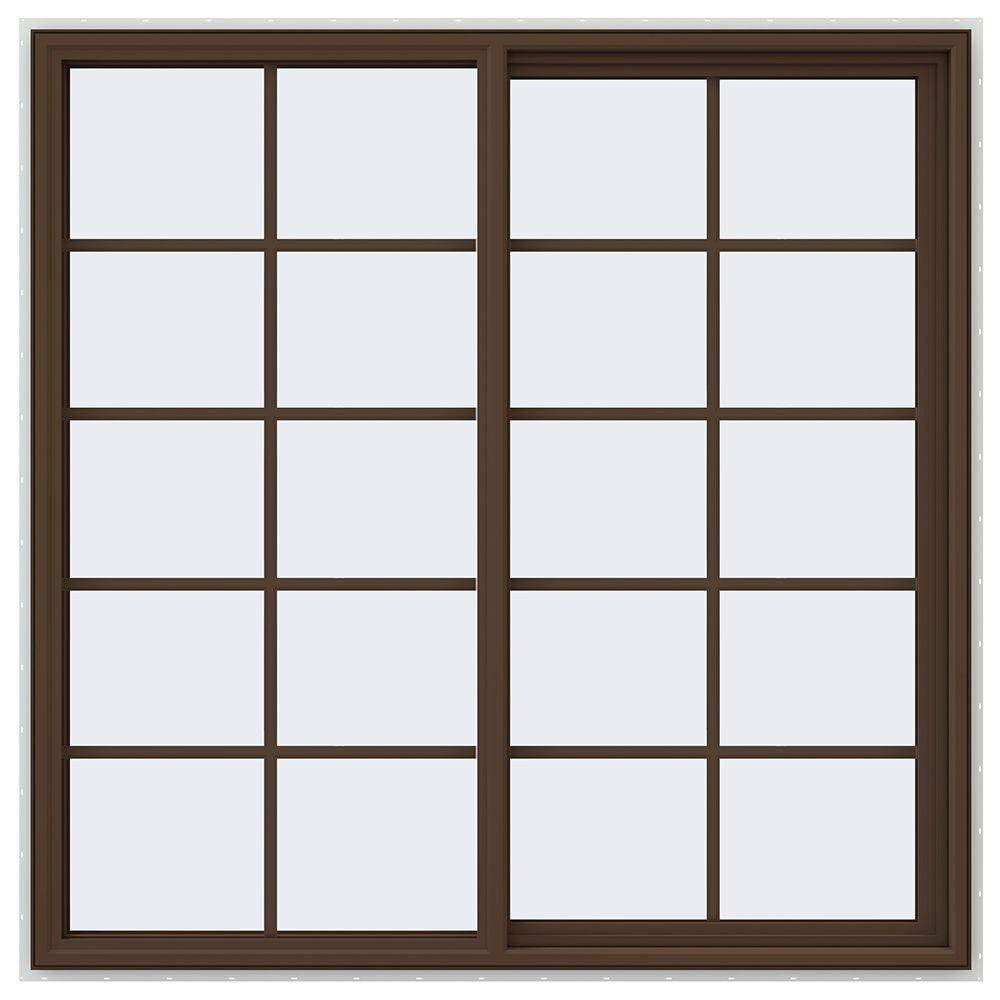 59.5 in. x 59.5 in. V-4500 Series Right-Hand Sliding Vinyl Window