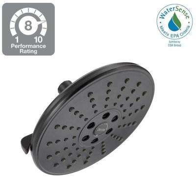 3-Spray 7-11/16 in. H2Okinetic Showerhead in SpotShield Venetian Bronze