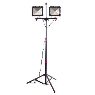 7000-Lumen Twin-Head LED Worklight