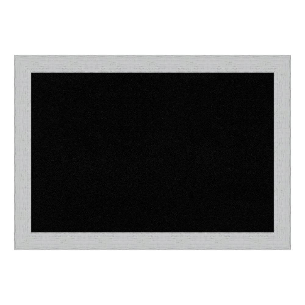 Shiplap White Framed Black Cork Memo Board