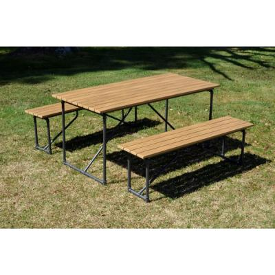Steamfitter Steel Outdoor Picnic Table and Benches