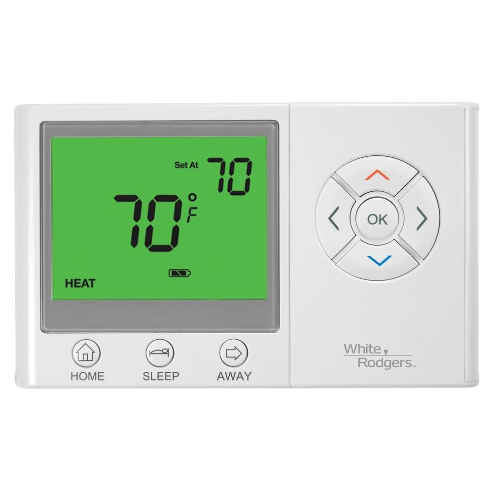 WHITERODGERS White Rodgers Universal Non-Programmable Thermostat with Home/Sleep/Away Presets