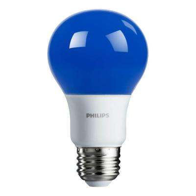 60-Watt Equivalent A19 Non-Dimmable Autism Speaks Blue LED Colored Light Bulb