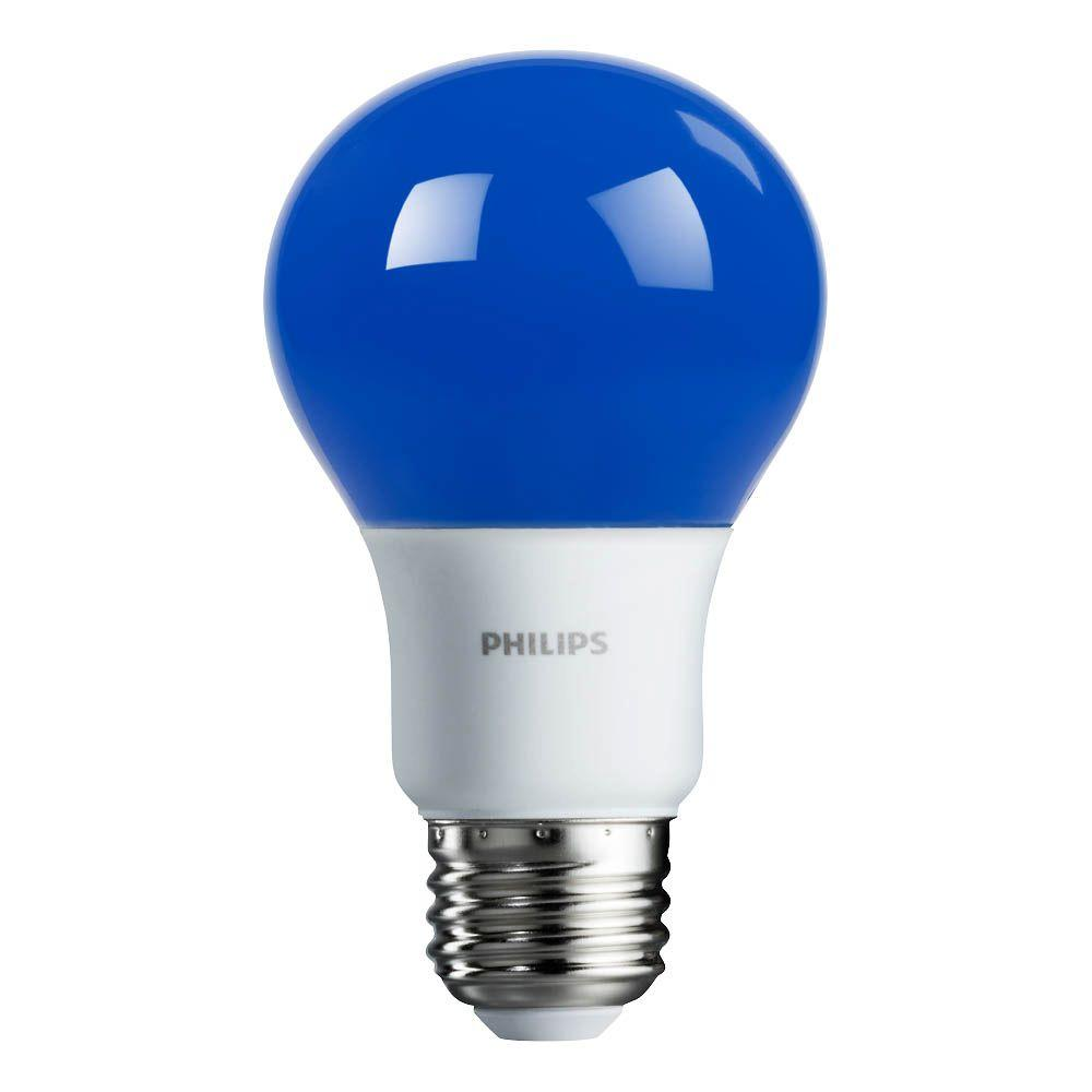 Philips 60-Watt Equivalent Blue A19 Non-Dimmable Autism