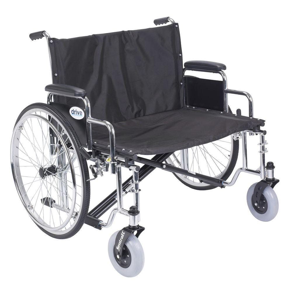 Drive Sentra EC Heavy Duty Extra Wide Wheelchair with Det...