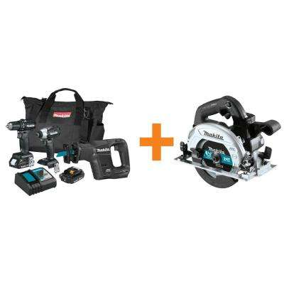 18-Volt LXT Sub-Compact Brushless 3-Piece Combo Kit (2.0 Ah) with Bonus 18-Volt LXT Brushless 6-1/2 in. Circular Saw
