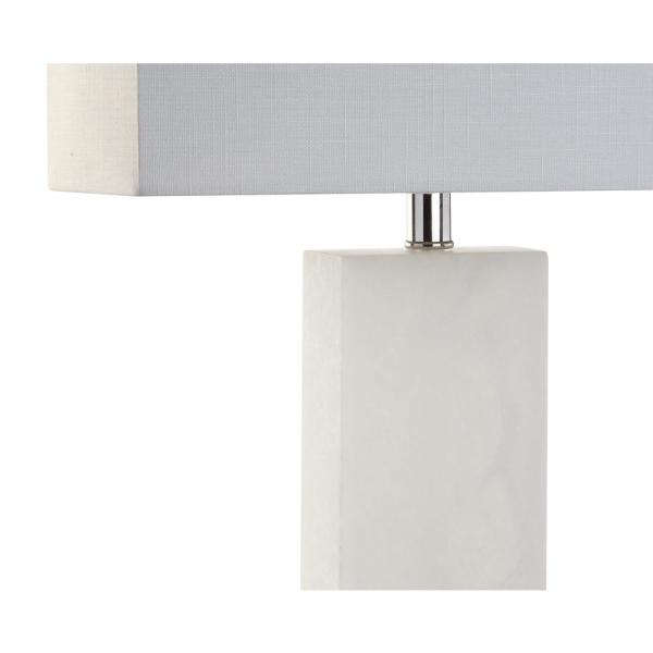 Jonathan Y Tiggie 27 In H White Alabaster Table Lamp Jyl2009a The Home Depot
