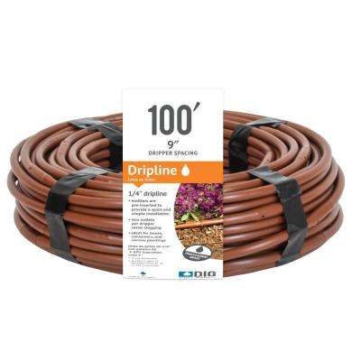 1/4 in. x 100 ft. Dripline with 9 in. Emitter Spacing
