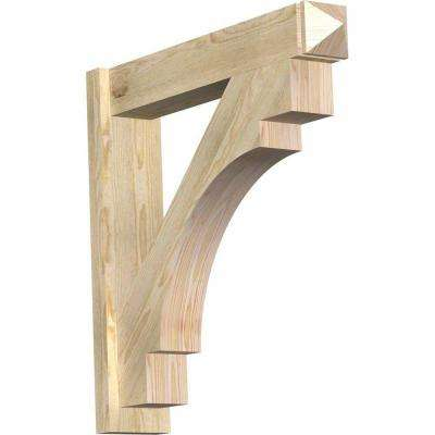 6 in. x 30 in. x 30 in. Douglas Fir Merced Arts and Crafts Rough Sawn Outlooker