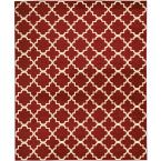 Grafix Red 8 ft. x 10 ft. Moroccan Modern Area Rug