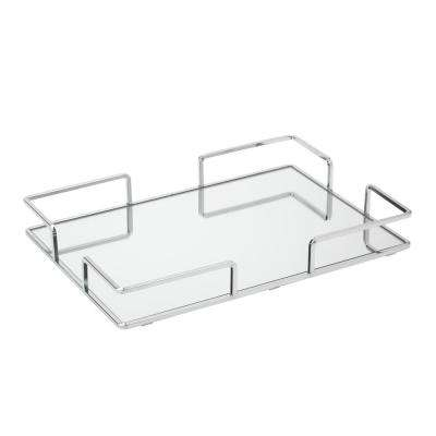 Modern Square Design Mirror Vanity Tray