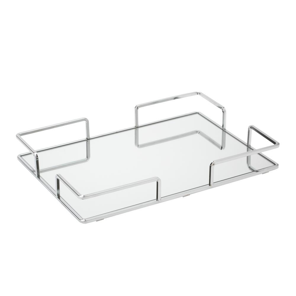 Modern Square Design Mirror Vanity Tray