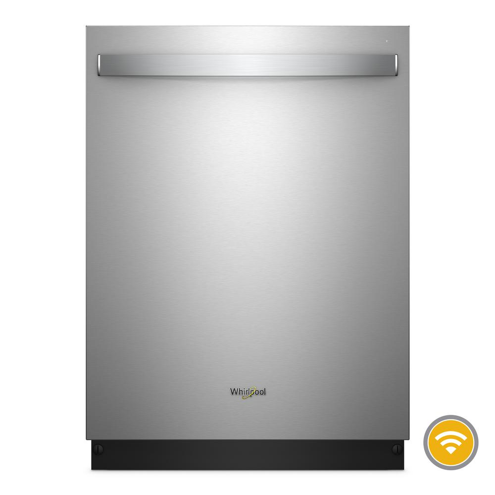 whirlpool top control smart built in tall tub dishwasher in rh homedepot com