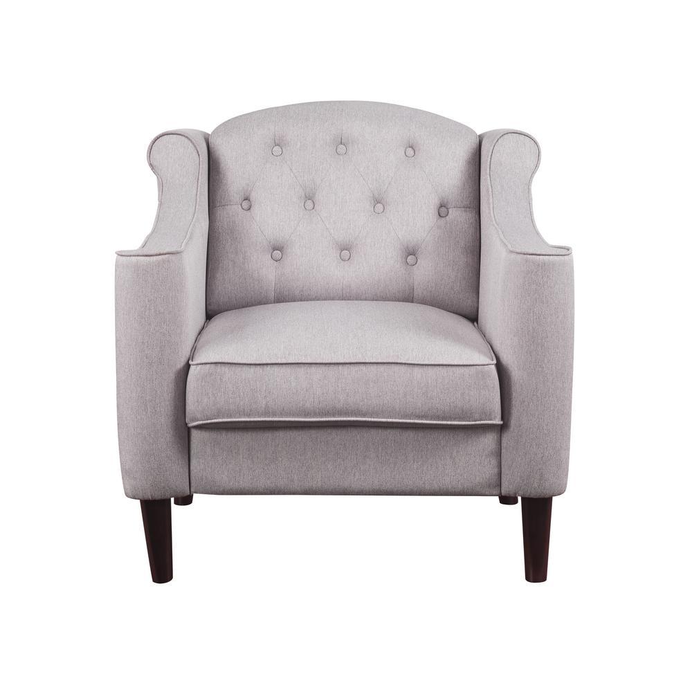 Acme Furniture Freesia Cream Fabric Chair